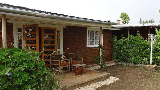 Maison de ville en briques au Rwanda