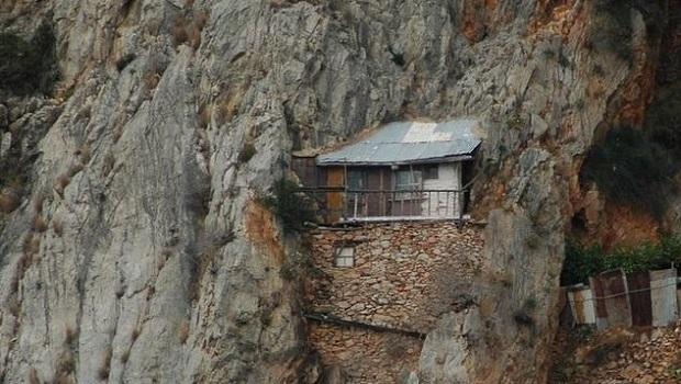 Les maisons des ermites de Karoulia