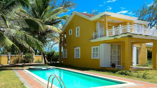 villa colorée maurice