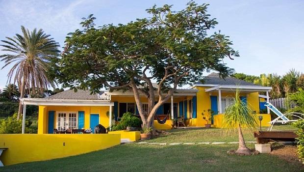 Villa colorée à Saint Paul