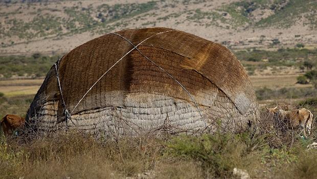 Aqal : hutte nomade en Somalie