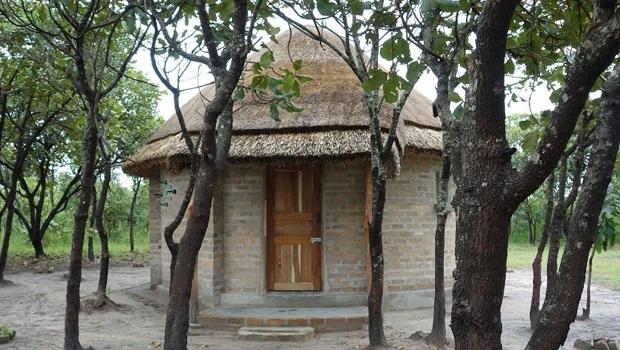 Hutte de brique en Zambie