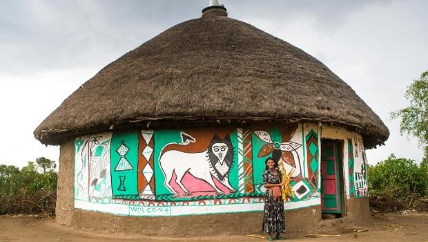 Les maisons peintes du peuple Alaba