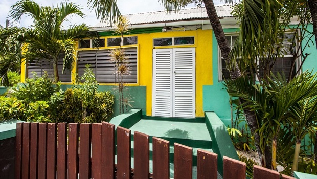Maison colorée à Bridgetown