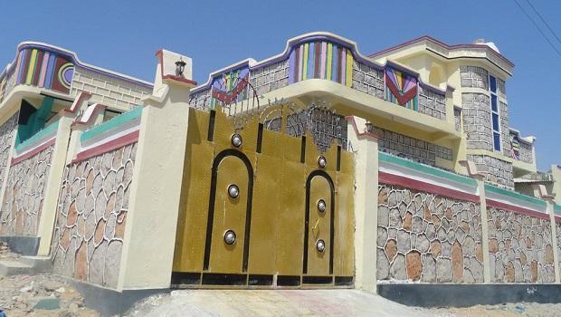 maison colorée somalie