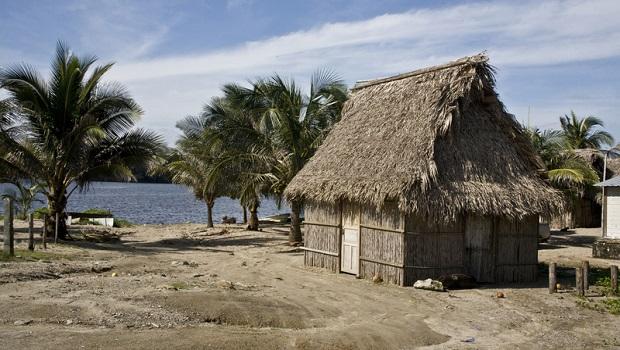 La maison traditionnelle des Garifunas