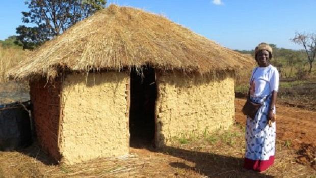 Les huttes du peuple Kaonde