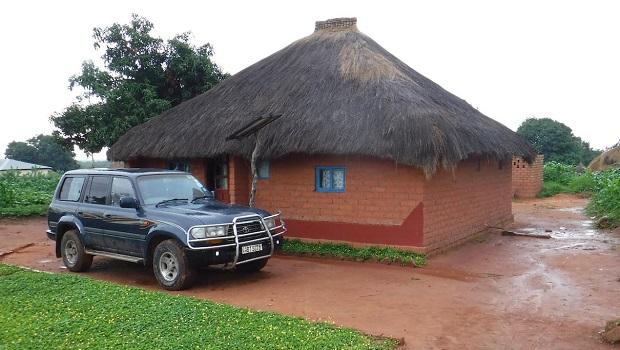 Maison rurale typique en Zambie