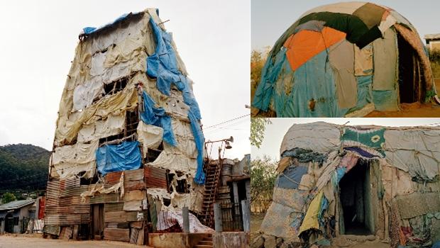 Des habitations de fortune en Somalie