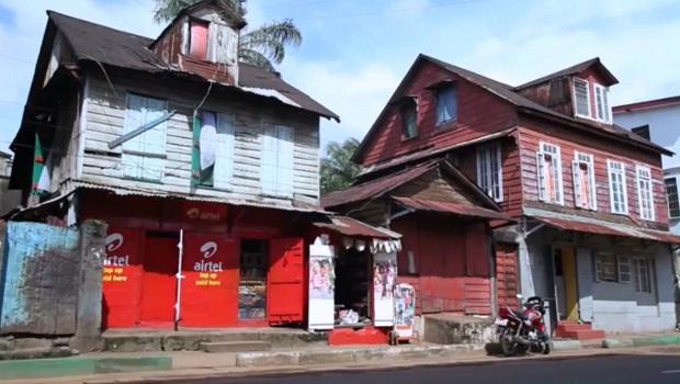 Les maisons à Freetown