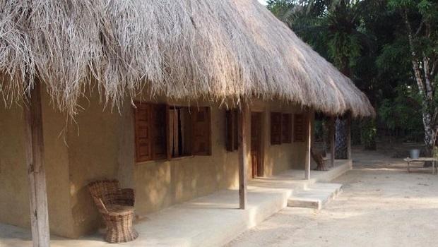Maisons traditionnelles modernes à Tonkolili en Sierra Leone