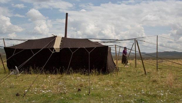 La tente des nomades tibétains