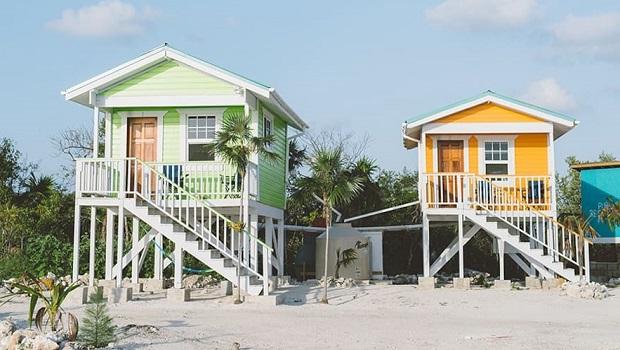 Petites maisons colorées au Belize