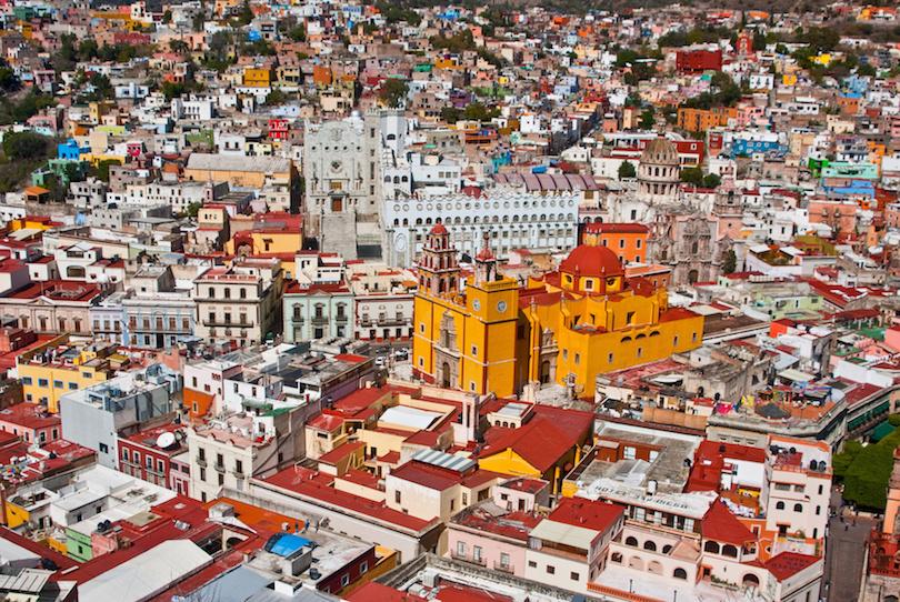 maisons colorées ville