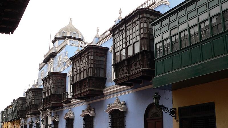 balcons maisons coloniales lima