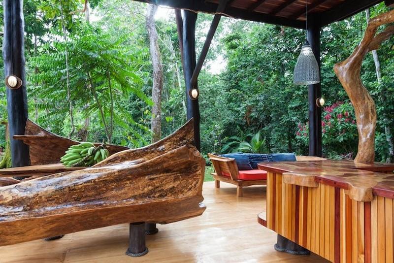 Jaguar San Jose >> Superbe maison en bois dans la forêt costaricienne