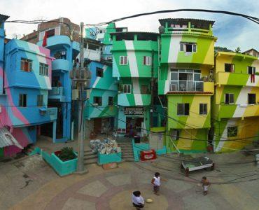 maisons colorées Vila Cruzeiro