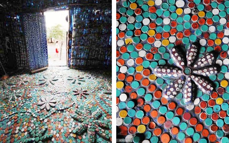 cette vieille femme a construit sa maison avec des bouteilles en plastique. Black Bedroom Furniture Sets. Home Design Ideas