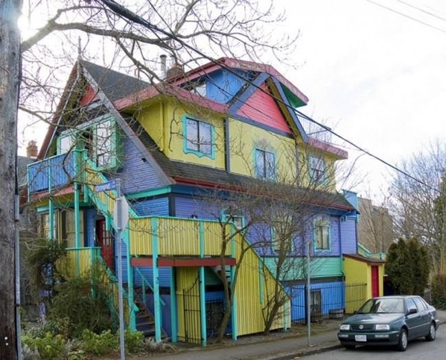 maison peinture colorée