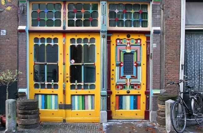 maison porte colorée