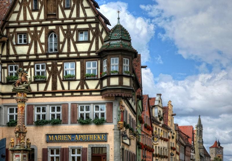 maisons colombages rothenburg