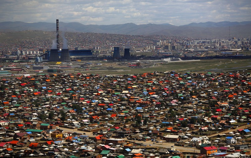 bidonville en mongolie