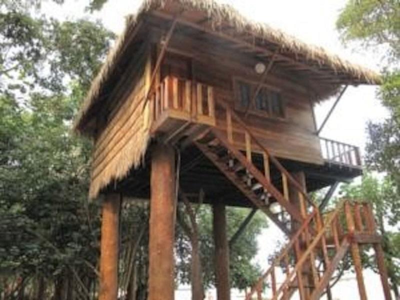 Hautes maisons sur pilotis au cambodge for Acheter maison cambodge