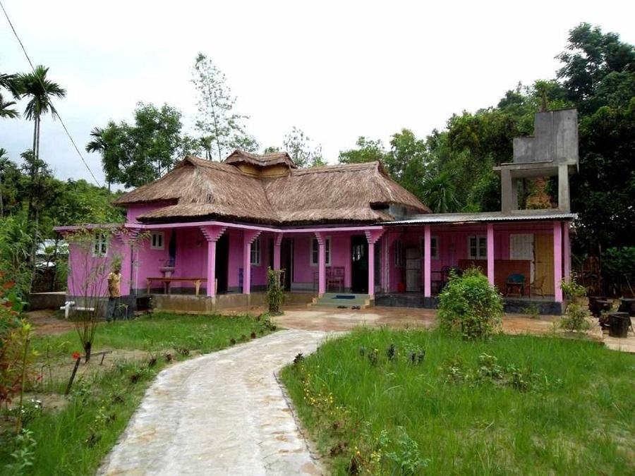 maison colorée bangladesh
