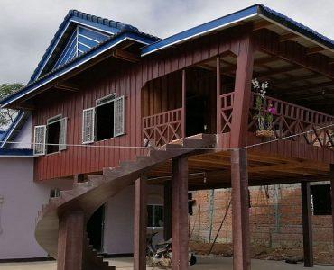 maison khmer en bois