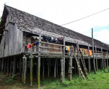 maison longue dayak