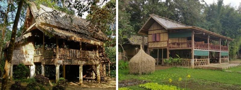 Les maisons traditionnelles en bois de luang prabang for Maison traditionnelle laos