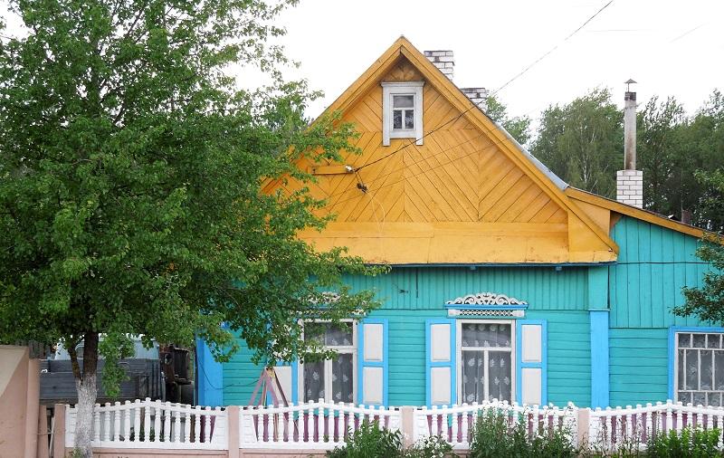 maison colorée biélorussie