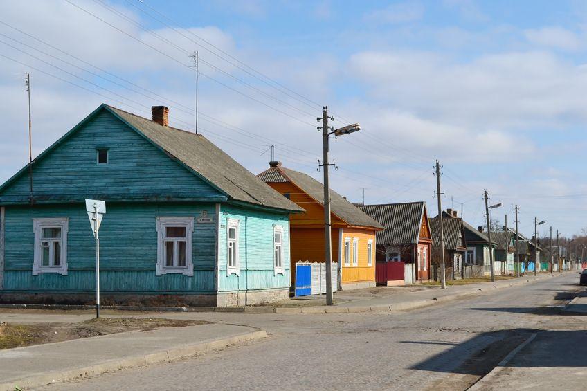 maisons colorées biélorussie