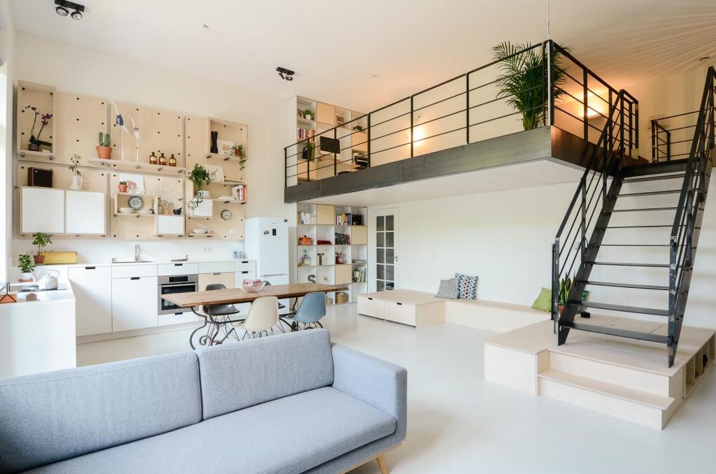 Une ancienne école convertie en loft familial moderne