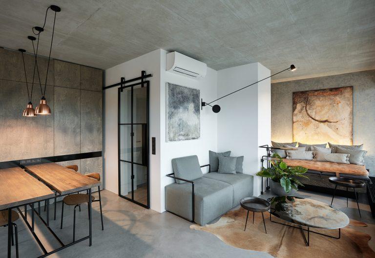 Loft industriel sophistiqué avec un design unique