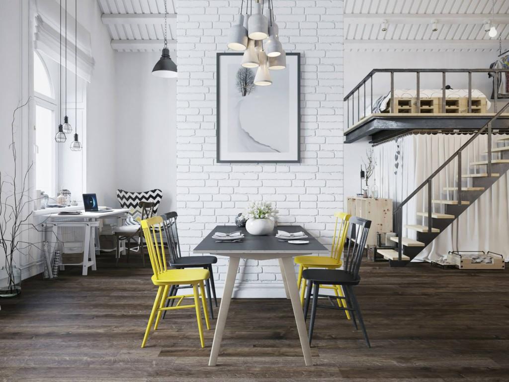 Loft moderne prague décor style scandinave