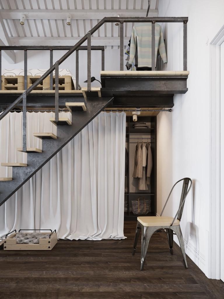 Loft moderne prague avec un d cor de style scandinave for Architecture traditionnelle scandinave