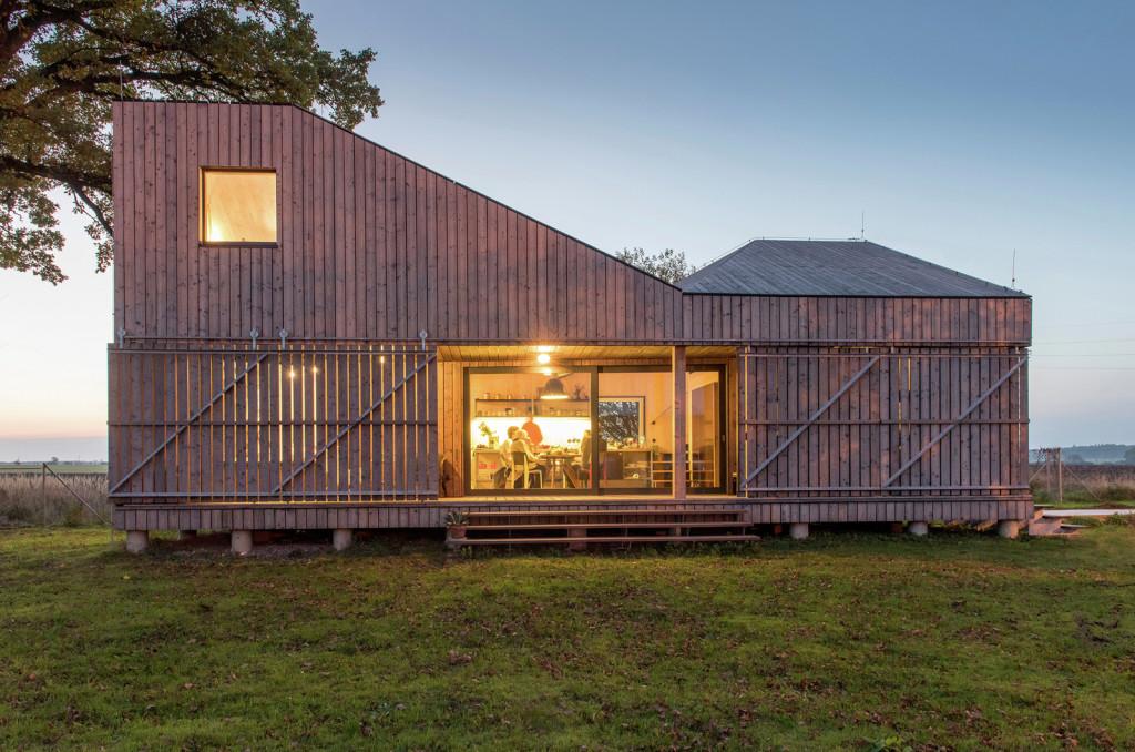 Maison moderne en bois en République Tchèque