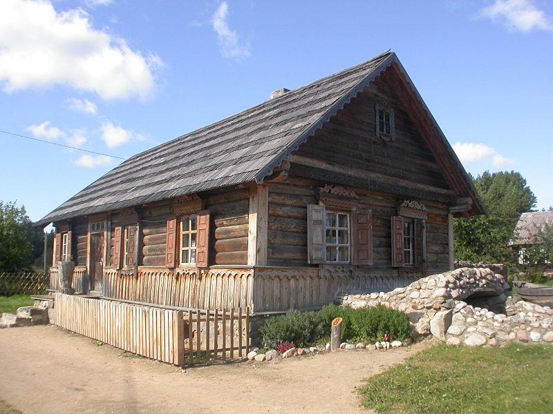 maison bois Slutisķi