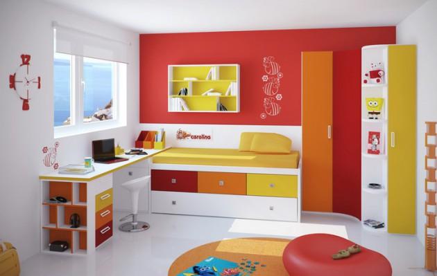 15 conceptions de chambre d\'enfant colorée