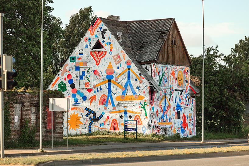 maison graffiti lituanie