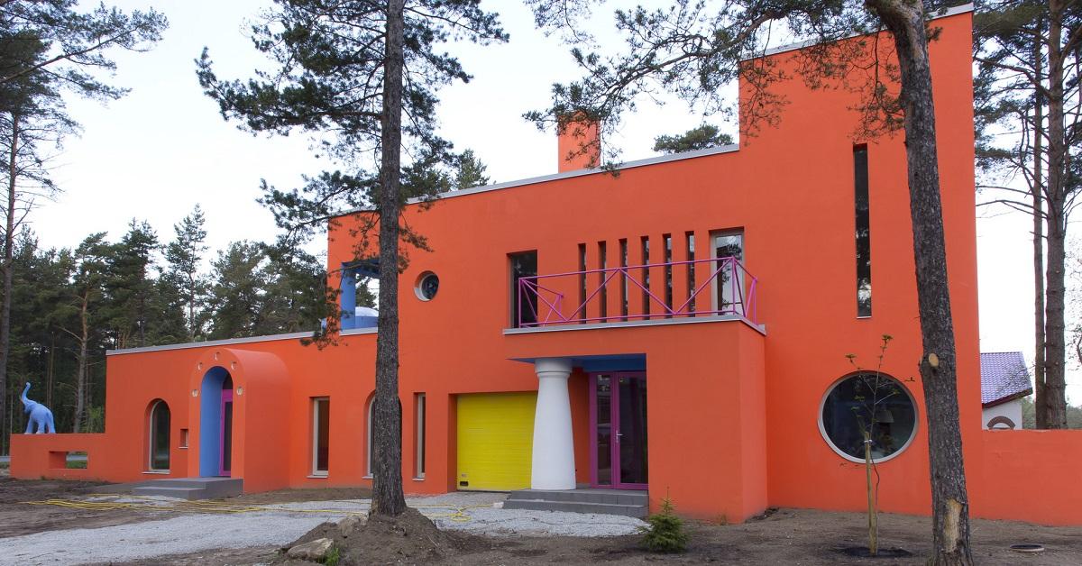 maison moderne colorée estonie