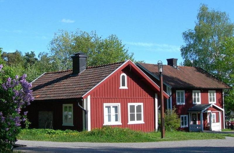 maisons en bois rouge falun