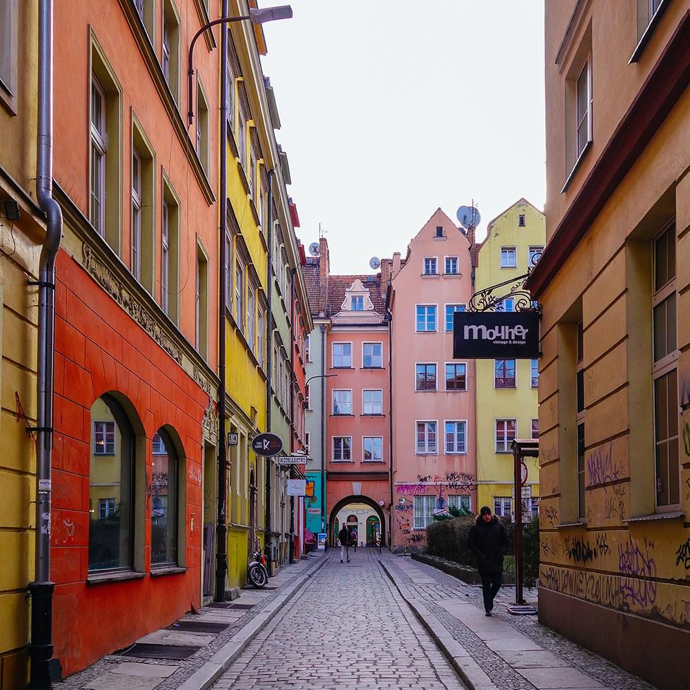 maisons colorées Wrocław