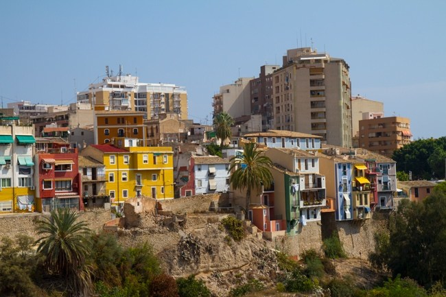 maisons colorées de La Vila Joiosa