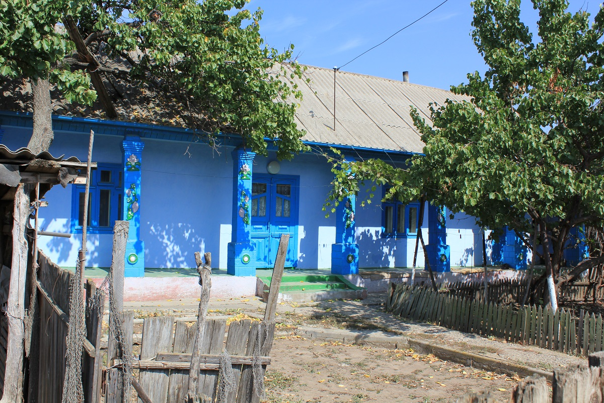 maisons colorées moldavie