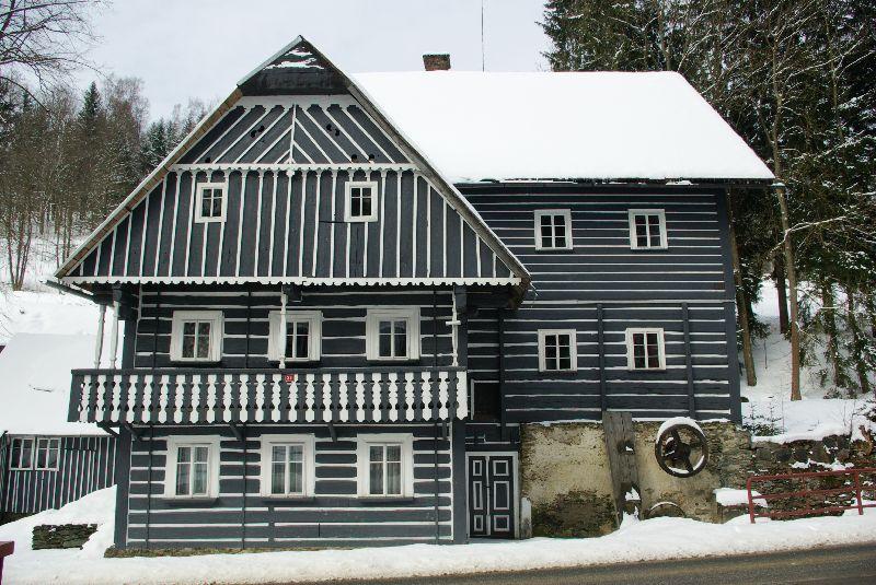 maisons en bois des monts Krkonoše