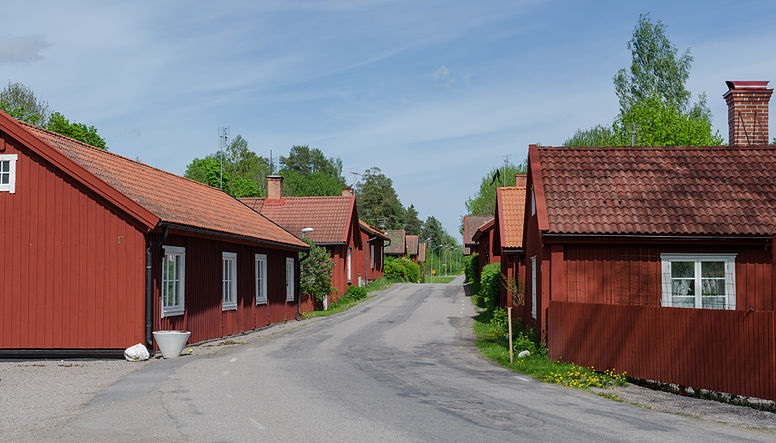Maisons en bois Rouge de Falun