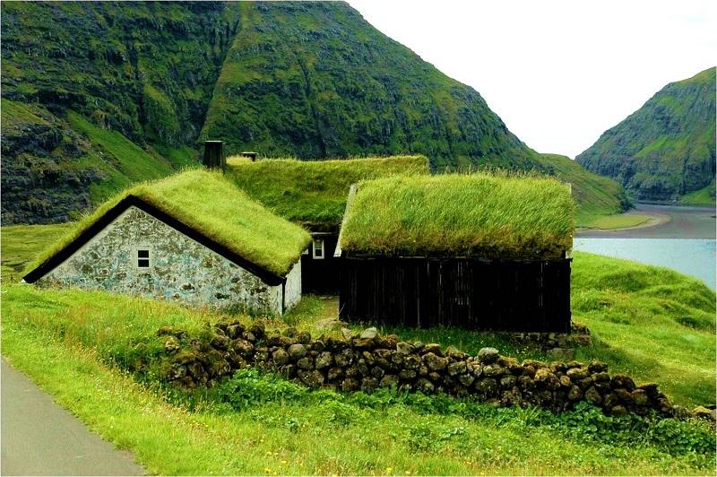 maisons herbe traditionnelles iles feroe