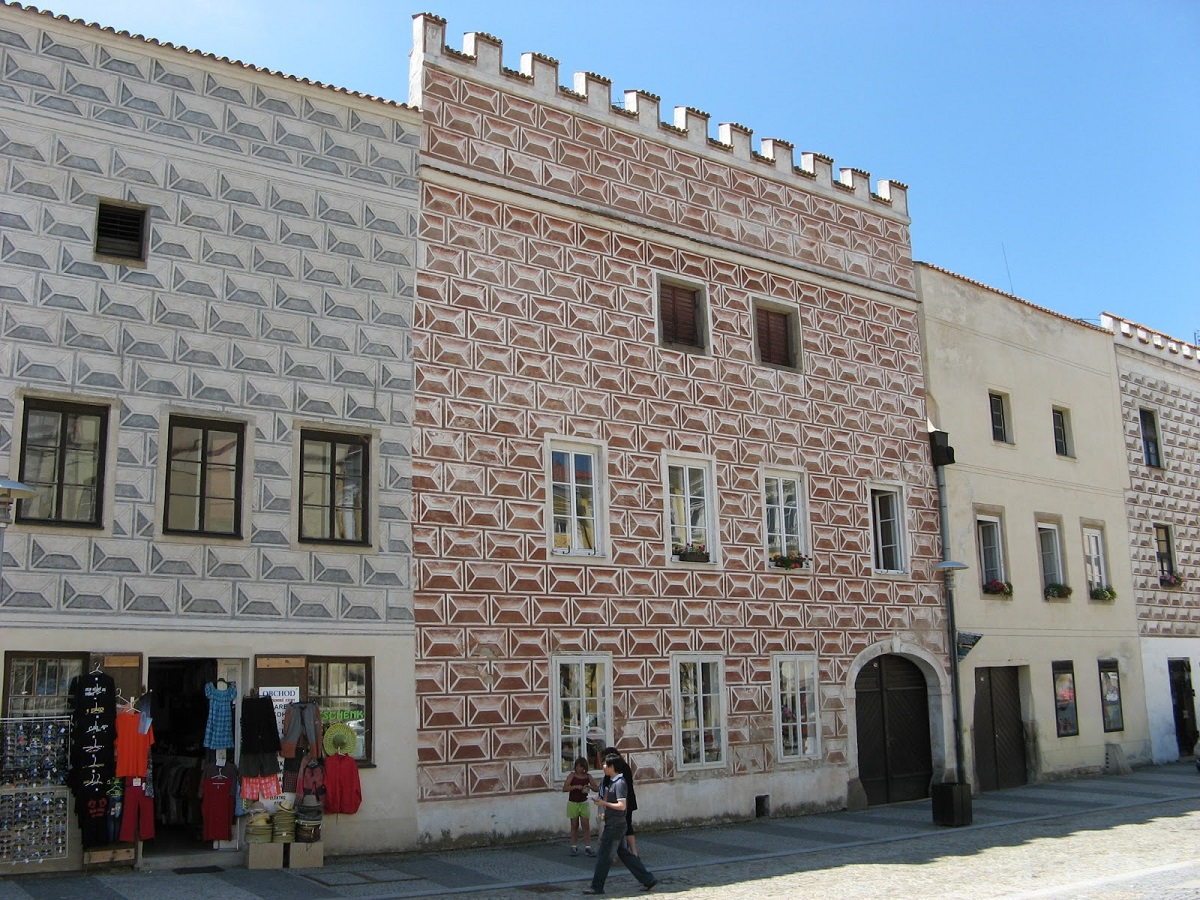 maisons renaissance slavonice